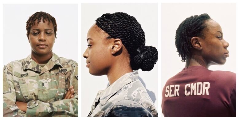 Natural Hairstyles For Gals In The Military
