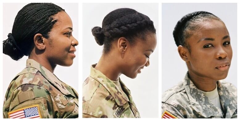 Natural Hairstyles For Gals In The Military Alikay Blog